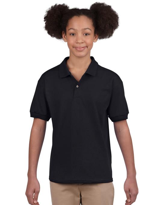 Koszulka Polo DryBlend Jersey Youth GILDAN B8800 - Gildan_B8800_02 - Kolor: Black