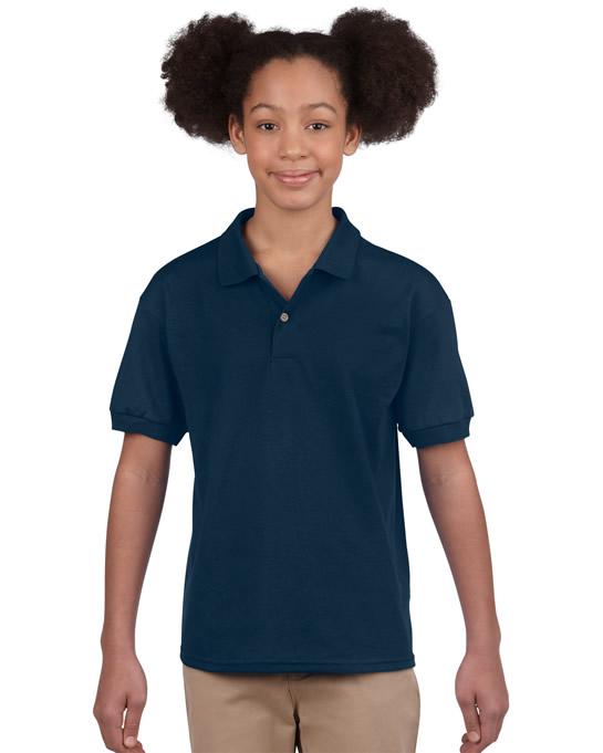 Koszulka Polo DryBlend Jersey Youth GILDAN B8800 - Gildan_B8800_07 - Kolor: Navy