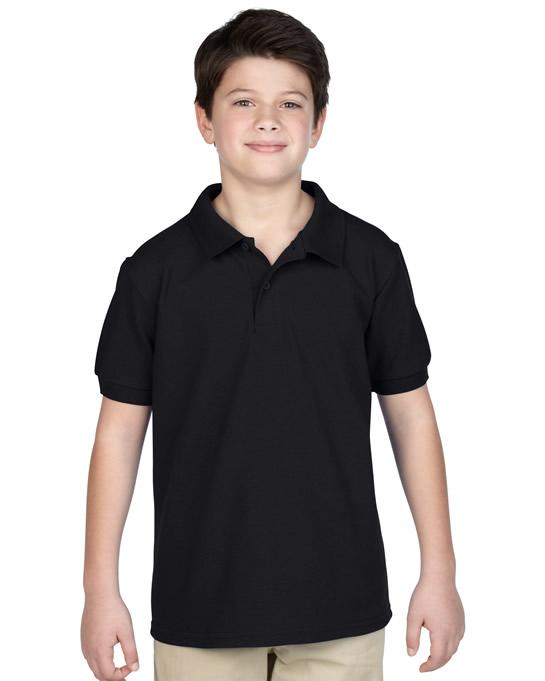 Koszulka Polo DryBlend Pique Youth GILDAN B94800 - Gildan_B94800_02 - Kolor: Black