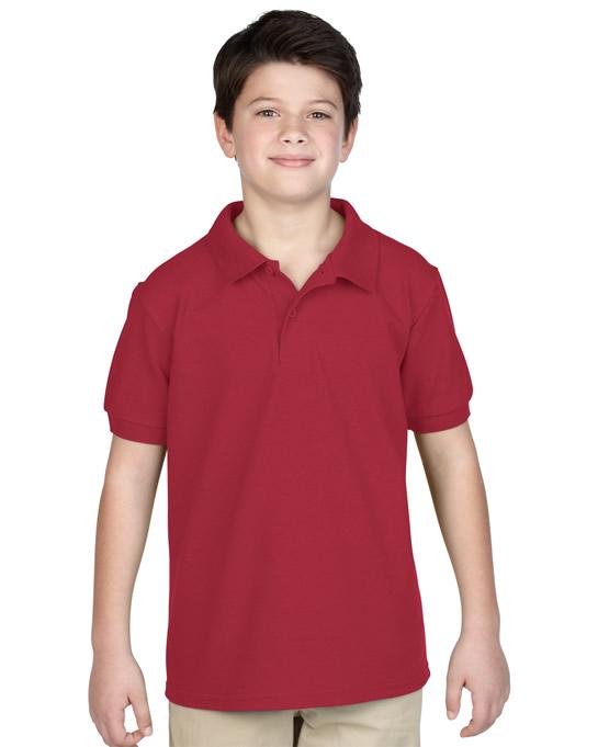 Koszulka Polo DryBlend Pique Youth GILDAN B94800 - Gildan_B94800_03 - Kolor: Cardinal red