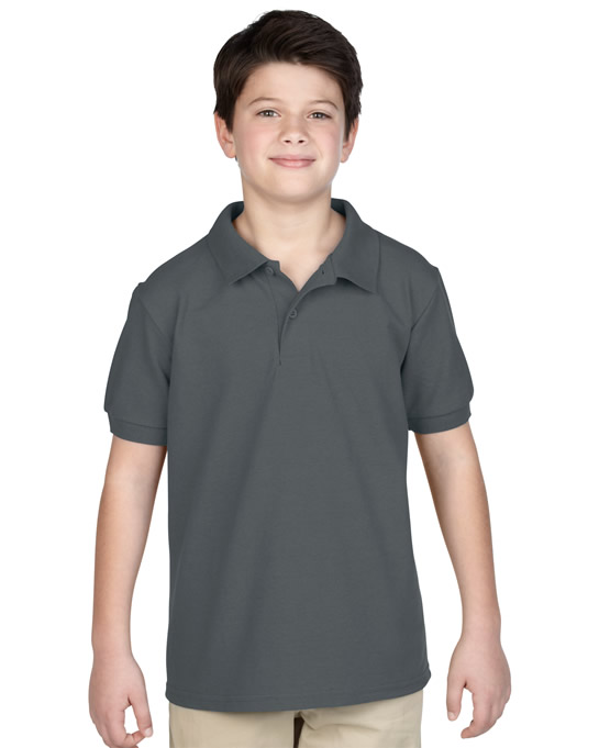 Koszulka Polo DryBlend Pique Youth GILDAN B94800 - Gildan_B94800_04 - Kolor: Charcoal