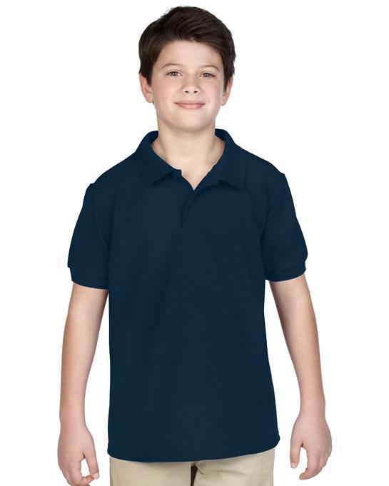 Koszulka Polo DryBlend Pique Youth GILDAN B94800 - Gildan_B94800_07 - Kolor: Navy