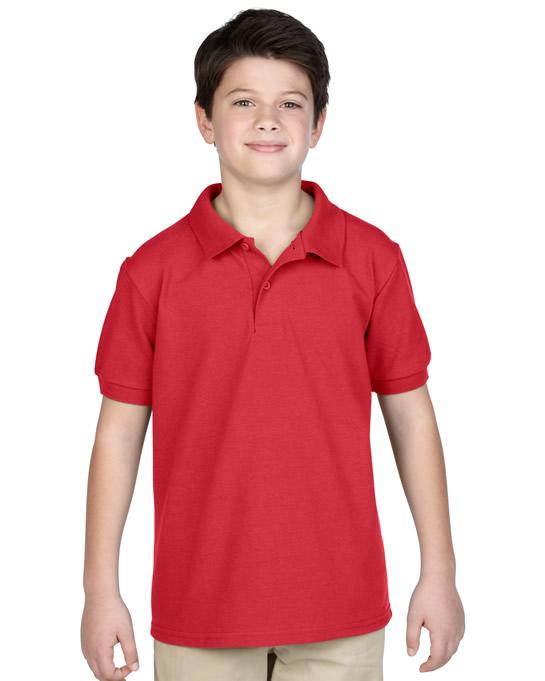 Koszulka Polo DryBlend Pique Youth GILDAN B94800 - Gildan_B94800_08 - Kolor: Red