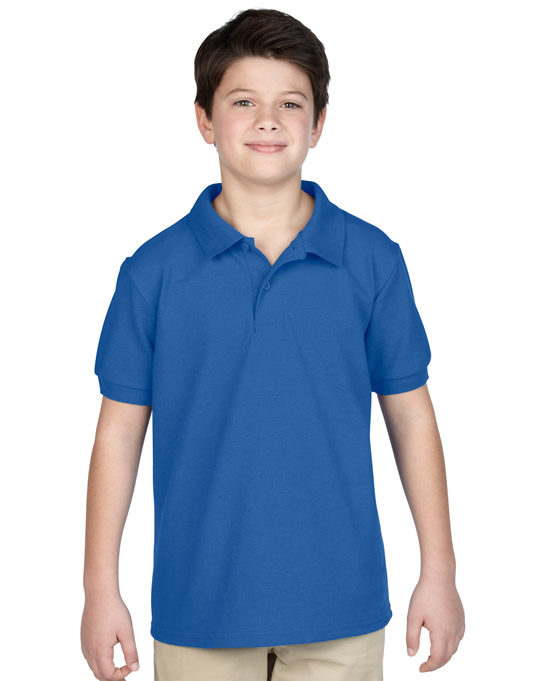 Koszulka Polo DryBlend Pique Youth GILDAN B94800 - Gildan_B94800_09 - Kolor: Royal blue