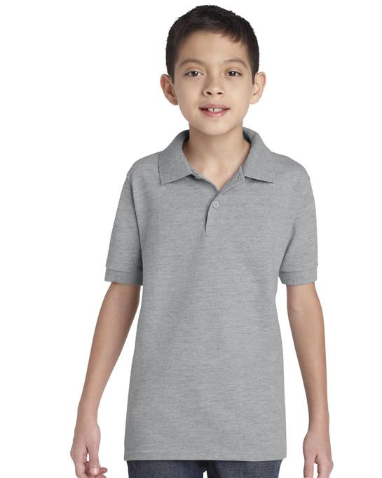 Koszulka Polo DryBlend Pique Youth GILDAN B94800 - Gildan_B94800_10 - Kolor: Sport grey