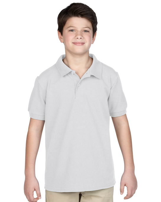 Koszulka Polo DryBlend Pique Youth GILDAN B94800 - Gildan_B94800_11 - Kolor: White