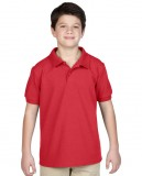Koszulka Polo DryBlend Pique Youth GILDAN B94800 - Gildan_B94800_08 Red