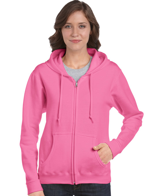Bluza Heavy Blend Full Zip Hooded Ladies GILDAN L18600 - Gildan_L18600_01 - Kolor: Azalea