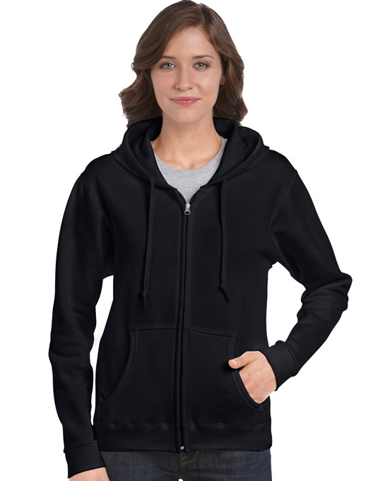 Bluza Heavy Blend Full Zip Hooded Ladies GILDAN L18600 - Gildan_L18600_02 - Kolor: Black