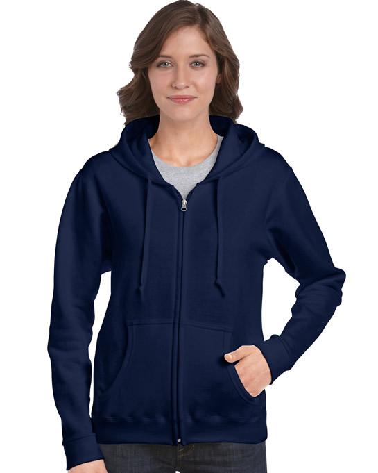 Bluza Heavy Blend Full Zip Hooded Ladies GILDAN L18600 - Gildan_L18600_04 - Kolor: Navy