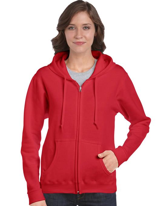 Bluza Heavy Blend Full Zip Hooded Ladies GILDAN L18600 - Gildan_L18600_05 - Kolor: Red