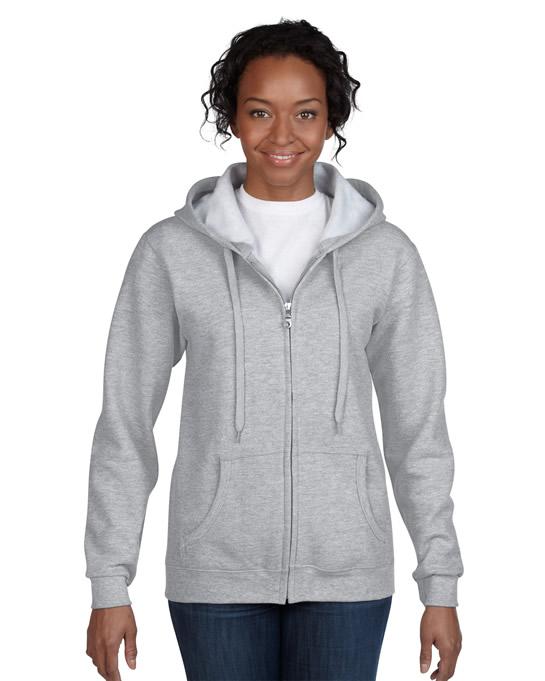 Bluza Heavy Blend Full Zip Hooded Ladies GILDAN L18600 - Gildan_L18600_06 - Kolor: Sport grey