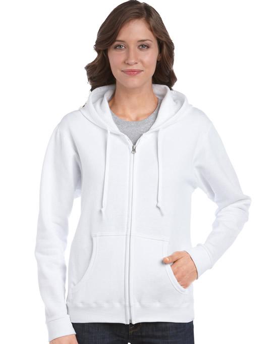 Bluza Heavy Blend Full Zip Hooded Ladies GILDAN L18600 - Gildan_L18600_07 - Kolor: White