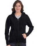 Bluza Heavy Blend Full Zip Hooded Ladies GILDAN L18600 - Gildan_L18600_02 Black