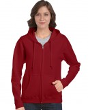 Bluza Heavy Blend Full Zip Hooded Ladies GILDAN L18600 - Gildan_L18600_03 Cardinal red