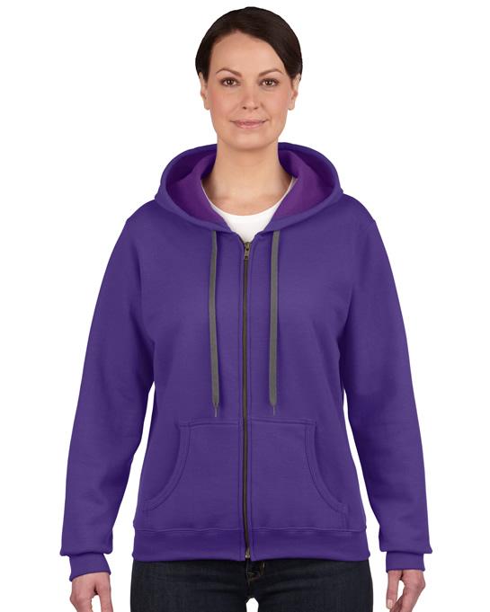Bluza Heavy Blent Vintage Classic Full Zip Ladies GILDAN L18700 - Gildan_L18700_02 - Kolor: Lilac