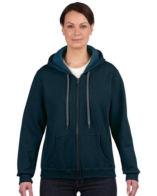 Bluza Heavy Blent Vintage Classic Full Zip Ladies GILDAN L18700 - Gildan_L18700_04 - Kolor: Midnight