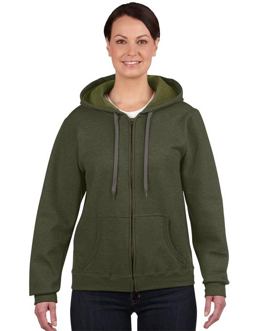 Bluza Heavy Blent Vintage Classic Full Zip Ladies GILDAN L18700 - Gildan_L18700_05 - Kolor: Moss