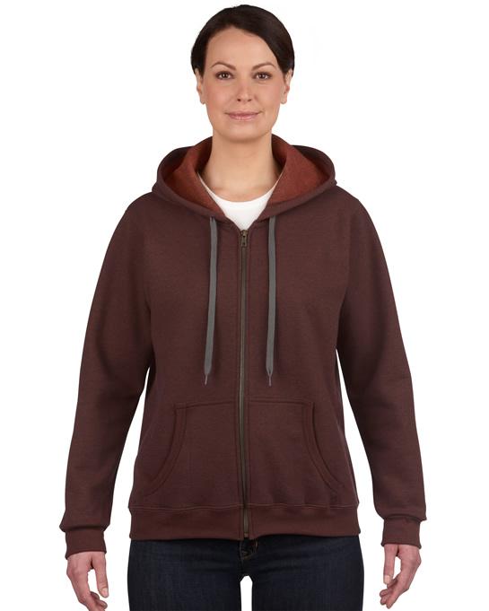 Bluza Heavy Blent Vintage Classic Full Zip Ladies GILDAN L18700 - Gildan_L18700_06 - Kolor: Russet