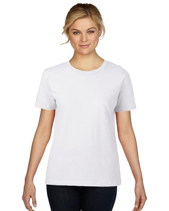 Koszulka Premium Cotton Ladies GILDAN L4100 - Gildan_L4100_02 - Kolor: White