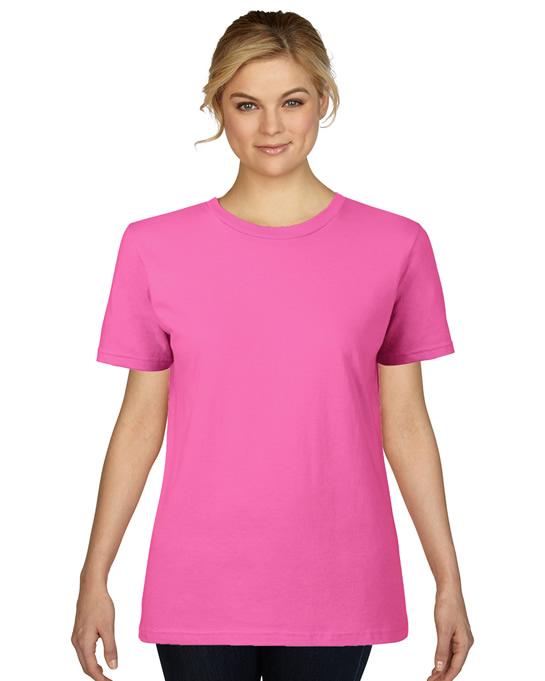 Koszulka Premium Cotton Ladies GILDAN L4100 - Gildan_L4100_01 - Kolor: Azalea