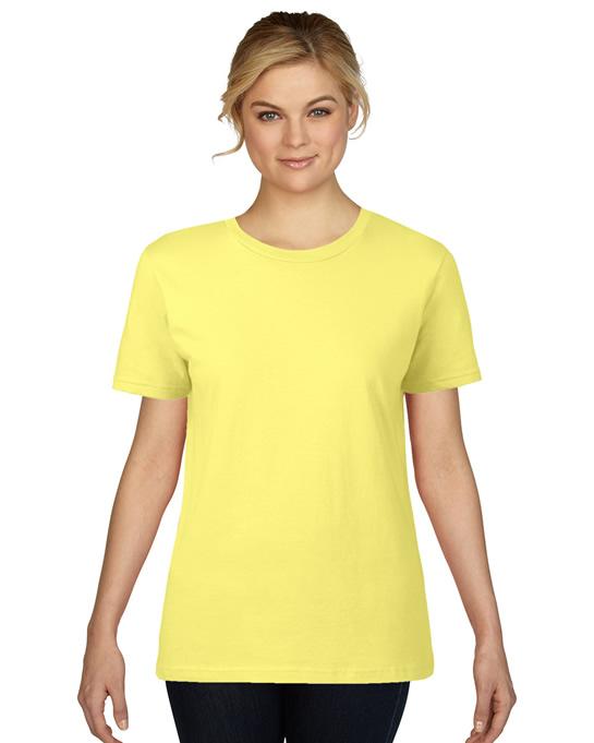 Koszulka Premium Cotton Ladies GILDAN L4100 - Gildan_L4100_04 - Kolor: Cornsilk