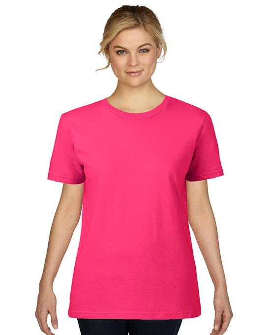Koszulka Premium Cotton Ladies GILDAN L4100 - Gildan_L4100_05 - Kolor: Heliconia