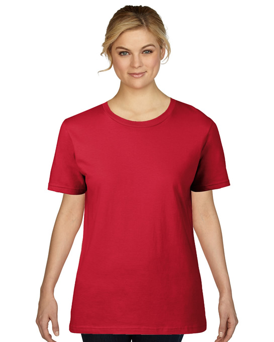 Koszulka Premium Cotton Ladies GILDAN L4100 - Gildan_L4100_08 - Kolor: Red