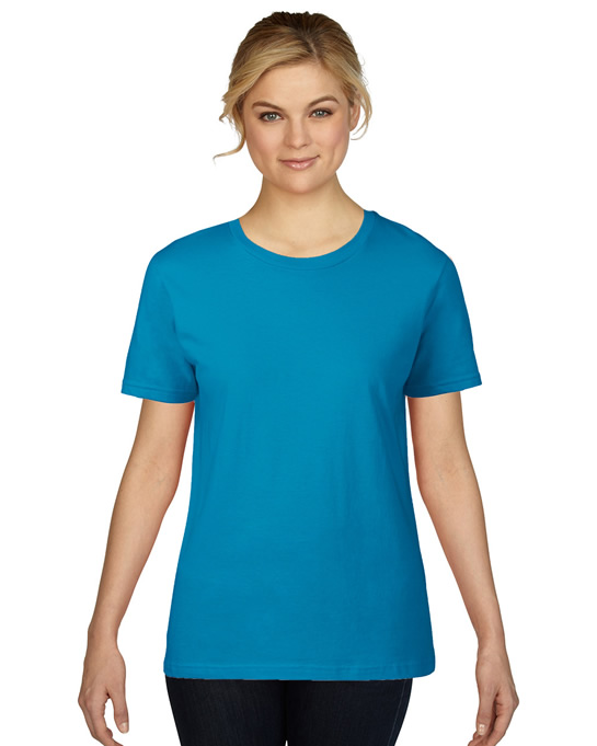 Koszulka Premium Cotton Ladies GILDAN L4100 - Gildan_L4100_11 - Kolor: Sapphire