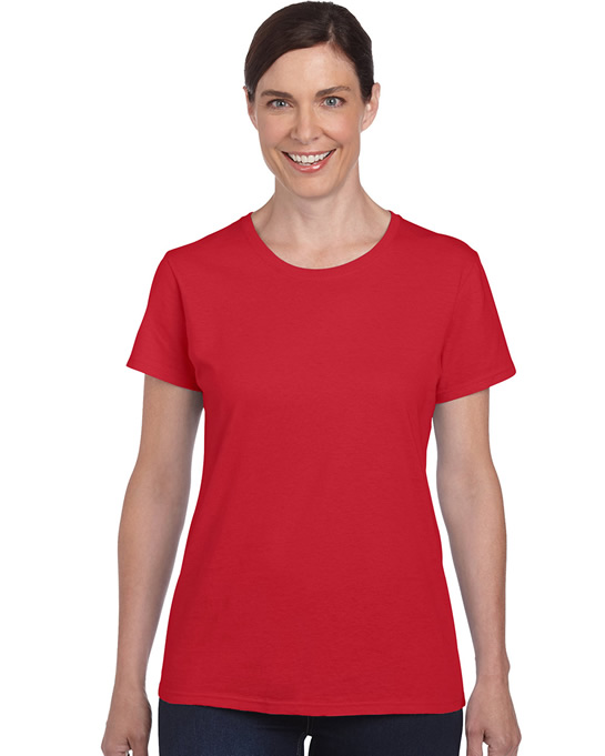 Koszulka Heavy Cotton Ladies GILDAN L5000 - Gildan_L5000_12 - Kolor: Red