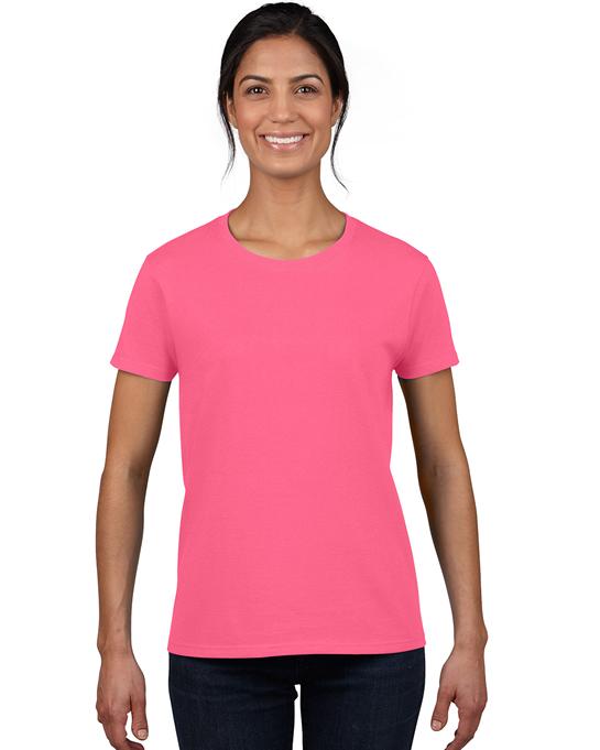 Koszulka Heavy Cotton Ladies GILDAN L5000 - Gildan_L5000_14 - Kolor: Safety pink