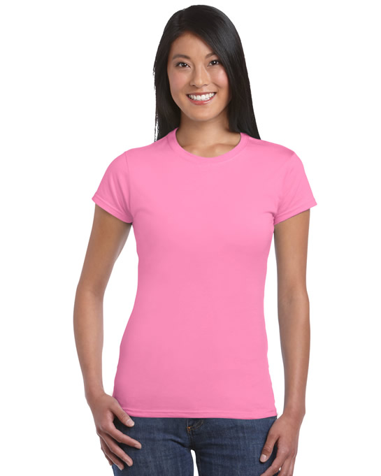 Koszulka Softstyle Ladies GILDAN L6400 - Gildan_L6400_04 - Kolor: Azalea