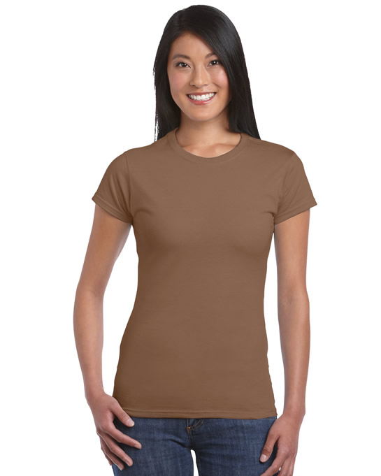 Koszulka Softstyle Ladies GILDAN L6400 - Gildan_L6400_08 - Kolor: Chestnut