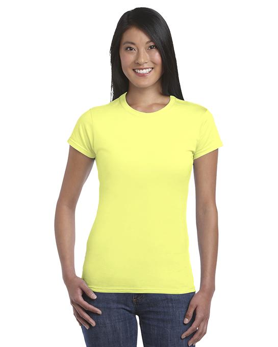 Koszulka Softstyle Ladies GILDAN L6400 - Gildan_L6400_09 - Kolor: Cornsilk