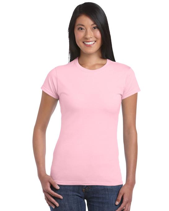 Koszulka Softstyle Ladies GILDAN L6400 - Gildan_L6400_19 - Kolor: Light pink