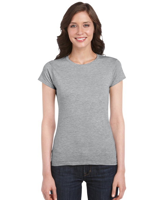 Koszulka Softstyle Ladies GILDAN L6400 - Gildan_L6400_25 - Kolor: Sport grey