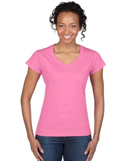 Koszulka Softstyle V-Neck Ladies GILDAN L64V00 - Gildan_L64V00_01 - Kolor: Azalea