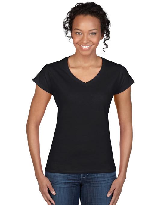 Koszulka Softstyle V-Neck Ladies GILDAN L64V00 - Gildan_L64V00_02 - Kolor: Black