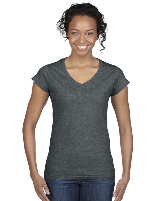 Koszulka Softstyle V-Neck Ladies GILDAN L64V00 - Gildan_L64V00_03 - Kolor: Dark heather