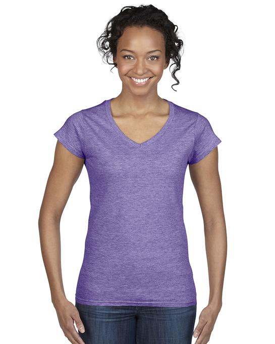 Koszulka Softstyle V-Neck Ladies GILDAN L64V00 - Gildan_L64V00_05 - Kolor: Heather purple
