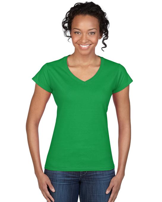 Koszulka Softstyle V-Neck Ladies GILDAN L64V00 - Gildan_L64V00_07 - Kolor: Irish green