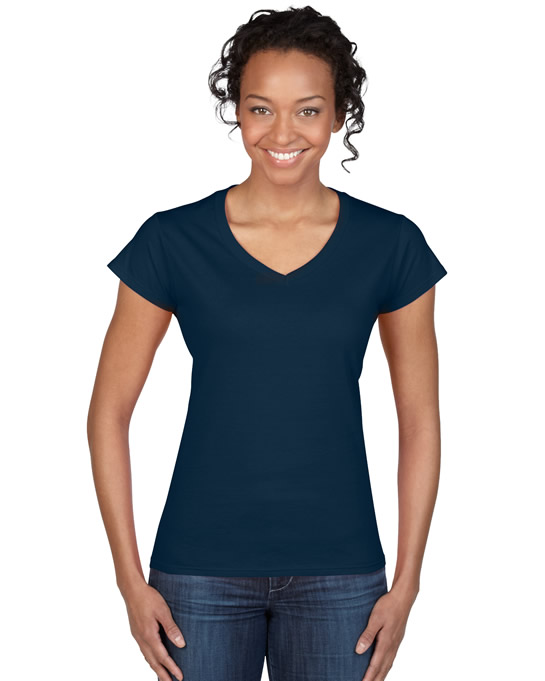 Koszulka Softstyle V-Neck Ladies GILDAN L64V00 - Gildan_L64V00_08 - Kolor: Navy