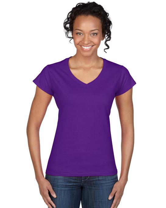 Koszulka Softstyle V-Neck Ladies GILDAN L64V00 - Gildan_L64V00_09 - Kolor: Purple