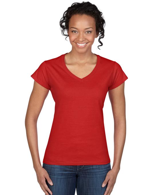 Koszulka Softstyle V-Neck Ladies GILDAN L64V00 - Gildan_L64V00_10 - Kolor: Red