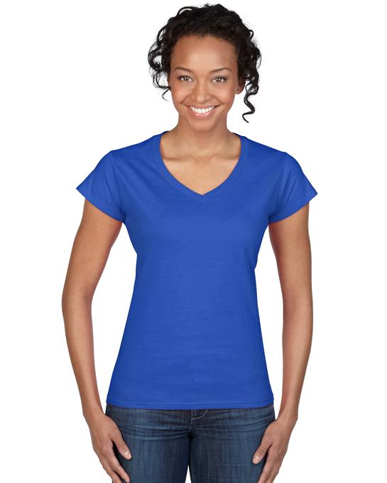 Koszulka Softstyle V-Neck Ladies GILDAN L64V00 - Gildan_L64V00_11 - Kolor: Royal blue