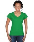 Koszulka Softstyle V-Neck Ladies GILDAN L64V00 - Gildan_L64V00_07 Irish green