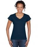 Koszulka Softstyle V-Neck Ladies GILDAN L64V00 - Gildan_L64V00_08 Navy