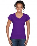 Koszulka Softstyle V-Neck Ladies GILDAN L64V00 - Gildan_L64V00_09 Purple