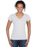Koszulka Softstyle V-Neck Ladies GILDAN L64V00 - Gildan_L64V00_13 White