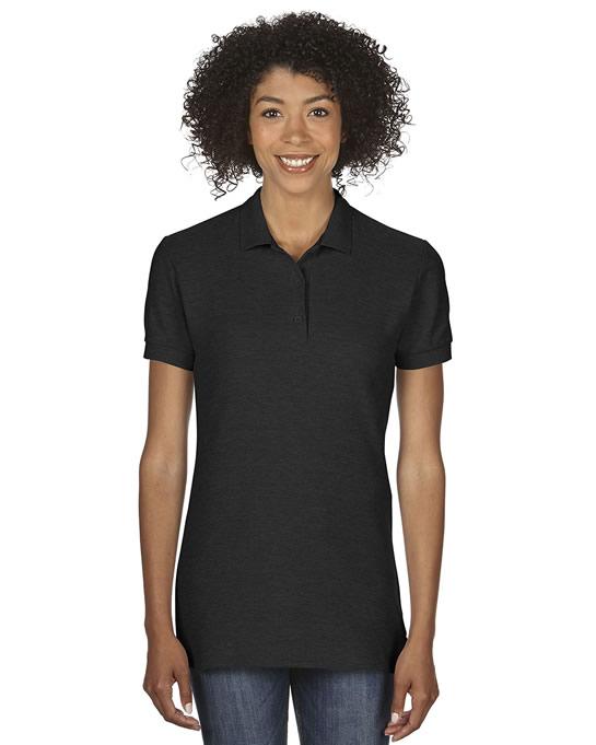 Koszulka Polo Premium Cotton Double Pique Ladies GILDAN L85800 - Gildan_L85800_02 - Kolor: Black